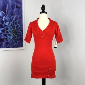 NWT Planet Gold Button Sweater Dress